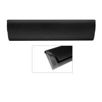 Cubic Colors briefplaat binnen met kunststof houder en luxe RVS klep voorzien van zwarte poedercoating