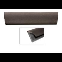 Cubic Colors briefplaat binnen met kunststof houder en luxe RVS klep in finish Dark blend