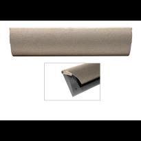 Cubic Colors briefplaat binnen met kunststof houder en luxe RVS klep in finish Mocca blend