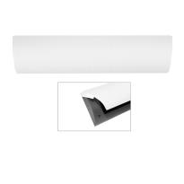Cubic Colors briefplaat binnen met kunststof houder en luxe RVS klep voorzien van witte poedercoating