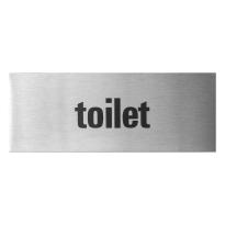 GPF0401.09.0004 deurbordje 'Toilet' rechthoekig, 50x130x1 mm