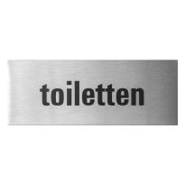 GPF0401.09.0005 deurbordje 'Toiletten' rechthoekig, 50x130x1 mm