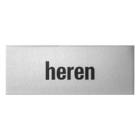 GPF0401.80.0001 deurbordje 'Heren' rechthoekig, 50x130x0,5 mm