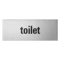 GPF0401.80.0004 deurbordje 'Toilet' rechthoekig, 50x130x0,5 mm