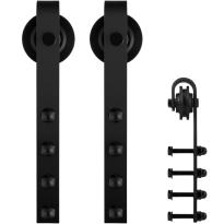 GPF0501.61 schuifdeurhanger set Raskas zwart t.b.v. extra deur