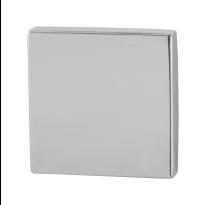 GPF0900.42 blinde rozet 50x50x8mm RVS gepolijst
