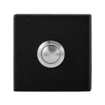 GPF8827.02 voordeurbel vierkant 50x50x8 mm zwart