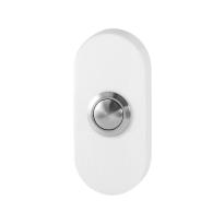 GPF8827.44 deur bel ovaal 70x32x10 mm wit