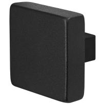 GPF8950.61 Zwart vierkante knop 60x60x16mm