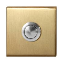 GPF9827.02P4 deur bel vierkant 50x50x8 mm PVD mat messing