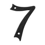Huisnummer 7 landelijk, smeedijzer zwart, 101 mm