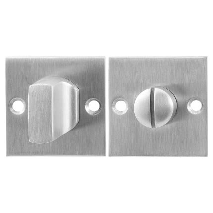 GPF0911.08 toiletgarnituur 50x50x2mm stift 5mm RVS geborsteld