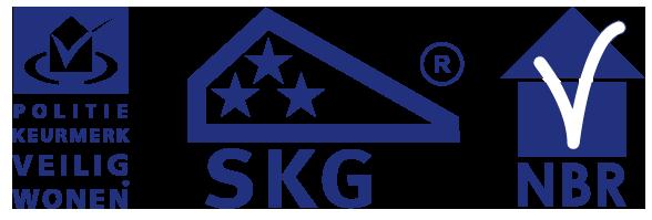 Keurmerken veiligheid en kwaliteit: Politiekeurmerk Veilig Wonen, SKG*** en NBR