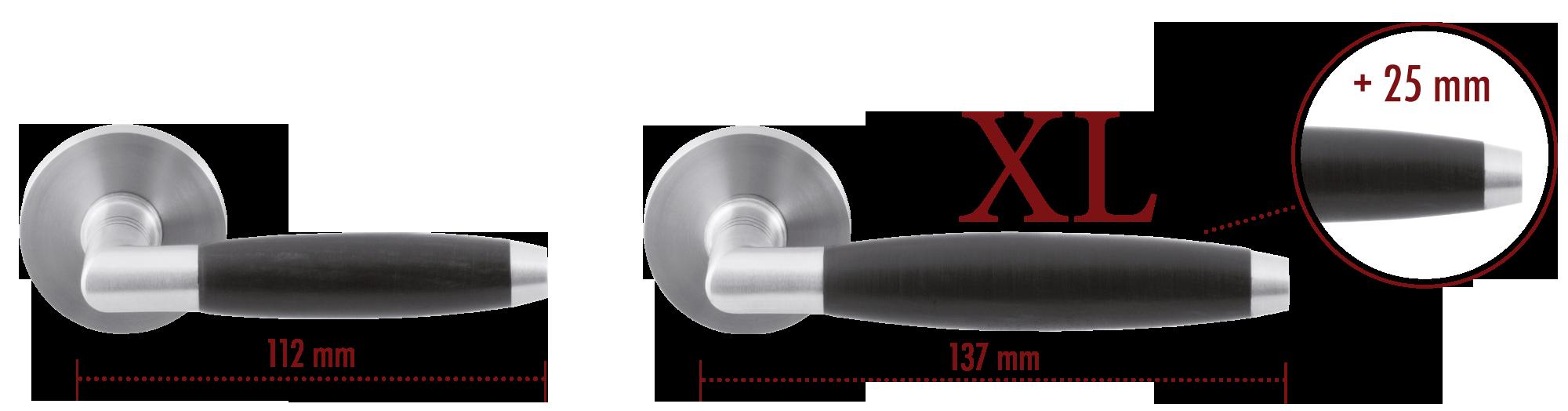 Met een GPF deurkruk XL geniet u van een langere greep