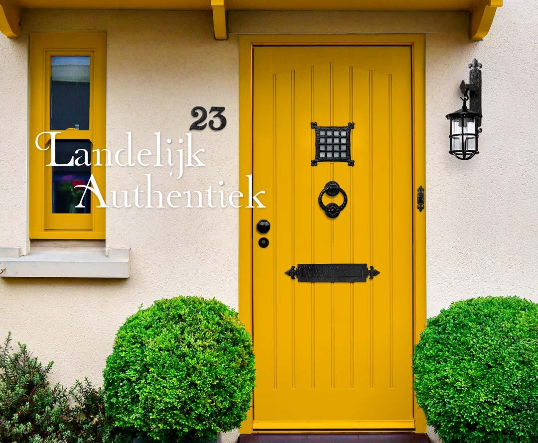 Landelijk Authentiek deurbeslag van smeedijzer