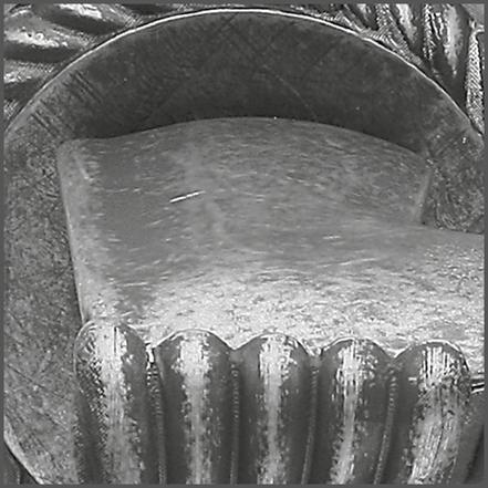 Detail finish antiek chroom