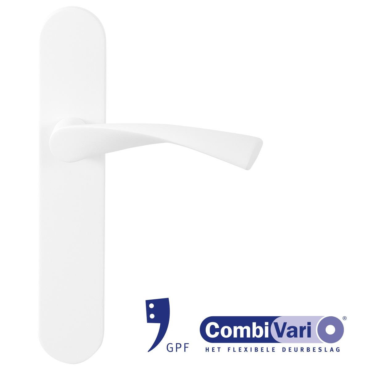 GPF Combivari witte deurkruk op schild
