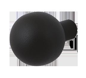 GPF zwart vaste knop