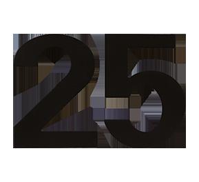 GPF zwart huisnummer 25