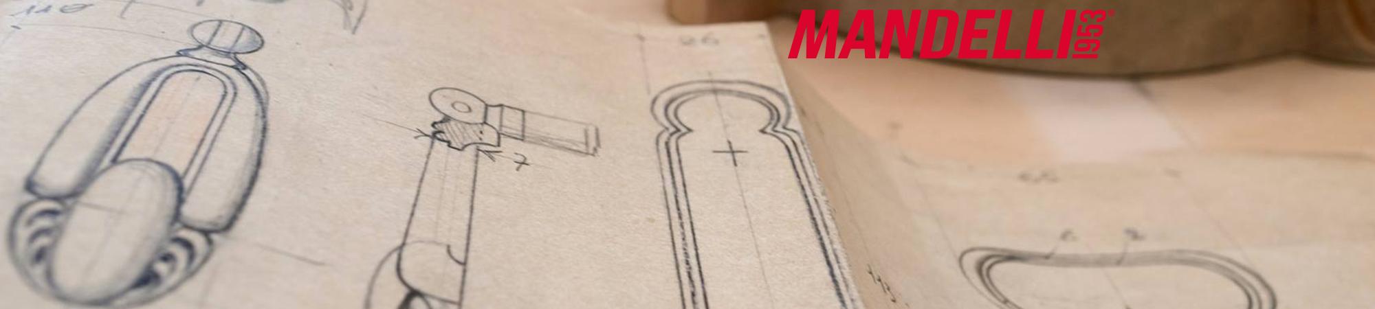 Mandelli ontwerpen van deurkrukken