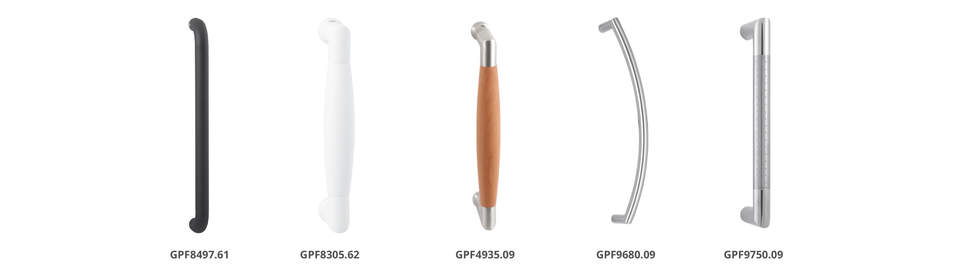GPF Grepen in verschillende vormen en finishes