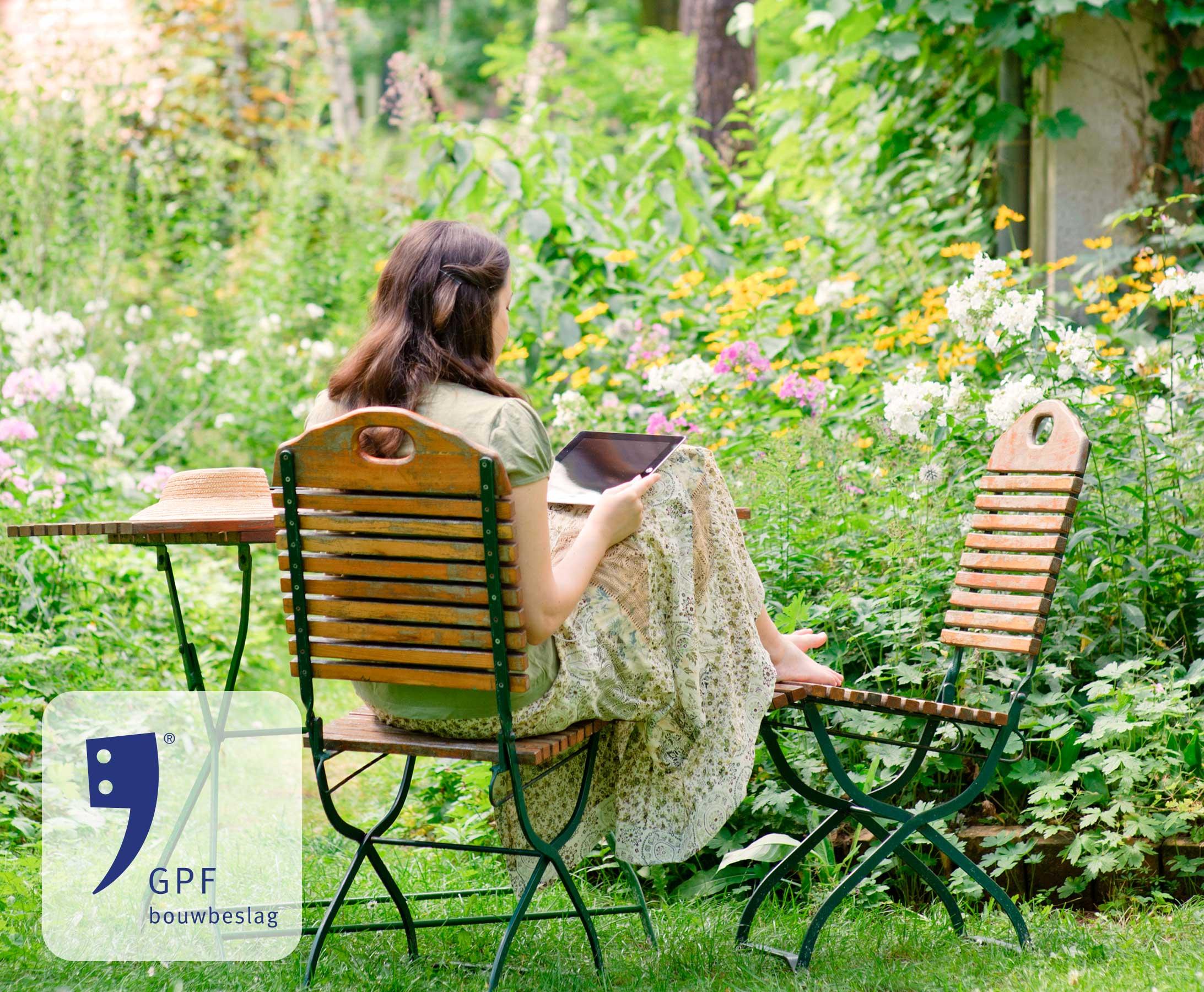 GPF smeedijzer sfeerafbeelding in de tuin