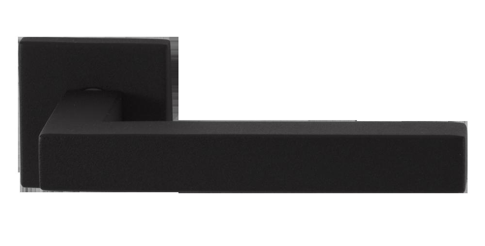 GPF Combivari zwarte deurkruk op vierkante rozet