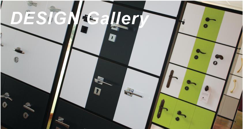 De design gallery, ruime presentatie van ons assortiment deurbeslag