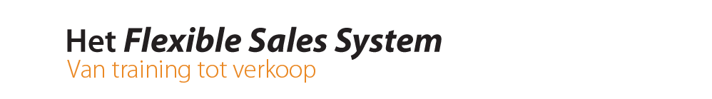 Ontdek ons Flexible Sales System